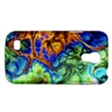 Abstract Fractal Batik Art Green Blue Brown Galaxy S4 Mini View1