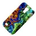 Abstract Fractal Batik Art Green Blue Brown Galaxy S4 Mini View4