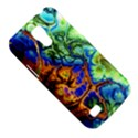 Abstract Fractal Batik Art Green Blue Brown Galaxy S4 Mini View5