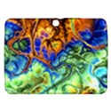Abstract Fractal Batik Art Green Blue Brown Samsung Galaxy Tab 3 (10.1 ) P5200 Hardshell Case  View1