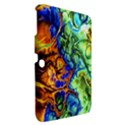Abstract Fractal Batik Art Green Blue Brown Samsung Galaxy Tab 3 (10.1 ) P5200 Hardshell Case  View2