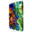 Abstract Fractal Batik Art Green Blue Brown Samsung Galaxy Tab 3 (10.1 ) P5200 Hardshell Case  View3