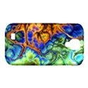 Abstract Fractal Batik Art Green Blue Brown Samsung Galaxy S4 Classic Hardshell Case (PC+Silicone) View1