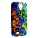 Abstract Fractal Batik Art Green Blue Brown Samsung Galaxy S4 Classic Hardshell Case (PC+Silicone) View2