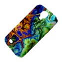 Abstract Fractal Batik Art Green Blue Brown Samsung Galaxy S4 Classic Hardshell Case (PC+Silicone) View4