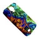 Abstract Fractal Batik Art Green Blue Brown Samsung Galaxy S4 Classic Hardshell Case (PC+Silicone) View5