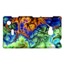 Abstract Fractal Batik Art Green Blue Brown Nokia Lumia 720 View1