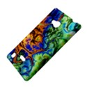 Abstract Fractal Batik Art Green Blue Brown Nokia Lumia 720 View4