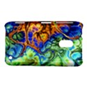 Abstract Fractal Batik Art Green Blue Brown Nokia Lumia 620 View1
