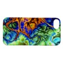 Abstract Fractal Batik Art Green Blue Brown Apple iPhone 5S/ SE Hardshell Case View1