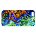 Abstract Fractal Batik Art Green Blue Brown iPhone 5S/ SE Premium Hardshell Case View1