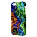 Abstract Fractal Batik Art Green Blue Brown iPhone 5S/ SE Premium Hardshell Case View3
