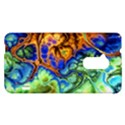 Abstract Fractal Batik Art Green Blue Brown HTC One Max (T6) Hardshell Case View1