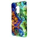 Abstract Fractal Batik Art Green Blue Brown HTC One Max (T6) Hardshell Case View3