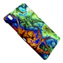 Abstract Fractal Batik Art Green Blue Brown Samsung Galaxy Tab Pro 8.4 Hardshell Case View4