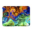 Abstract Fractal Batik Art Green Blue Brown Amazon Kindle Fire (2012) Hardshell Case View1