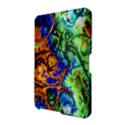 Abstract Fractal Batik Art Green Blue Brown Amazon Kindle Fire (2012) Hardshell Case View2