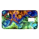 Abstract Fractal Batik Art Green Blue Brown Galaxy S5 Mini View1