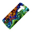 Abstract Fractal Batik Art Green Blue Brown LG G3 Hardshell Case View4