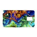 Abstract Fractal Batik Art Green Blue Brown Samsung Galaxy Note 4 Hardshell Case View1
