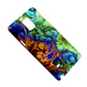 Abstract Fractal Batik Art Green Blue Brown Samsung Galaxy Note 4 Hardshell Case View5