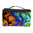Abstract Fractal Batik Art Green Blue Brown Cosmetic Storage Case View1