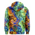 Abstract Fractal Batik Art Green Blue Brown Men s Zipper Hoodie View2