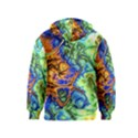 Abstract Fractal Batik Art Green Blue Brown Kids  Zipper Hoodie View2
