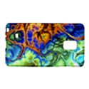 Abstract Fractal Batik Art Green Blue Brown Galaxy Note Edge View1