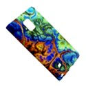 Abstract Fractal Batik Art Green Blue Brown Galaxy Note Edge View5