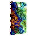 Abstract Fractal Batik Art Green Blue Brown Samsung Galaxy Tab 4 (7 ) Hardshell Case  View3