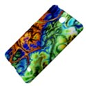 Abstract Fractal Batik Art Green Blue Brown Samsung Galaxy Tab 4 (7 ) Hardshell Case  View4