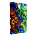 Abstract Fractal Batik Art Green Blue Brown Samsung Galaxy Tab S (8.4 ) Hardshell Case  View3