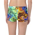 Abstract Fractal Batik Art Green Blue Brown Reversible Boyleg Bikini Bottoms View2