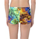 Abstract Fractal Batik Art Green Blue Brown Reversible Boyleg Bikini Bottoms View4
