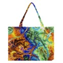 Abstract Fractal Batik Art Green Blue Brown Medium Tote Bag View1