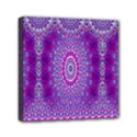 India Ornaments Mandala Pillar Blue Violet Mini Canvas 6  x 6  View1