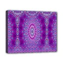 India Ornaments Mandala Pillar Blue Violet Canvas 10  x 8  View1