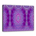 India Ornaments Mandala Pillar Blue Violet Canvas 20  x 16  View1