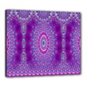 India Ornaments Mandala Pillar Blue Violet Canvas 24  x 20  View1