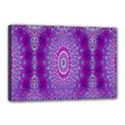 India Ornaments Mandala Pillar Blue Violet Canvas 18  x 12  View1