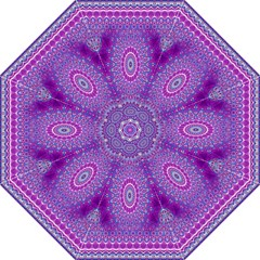India Ornaments Mandala Pillar Blue Violet Folding Umbrellas