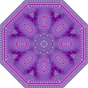 India Ornaments Mandala Pillar Blue Violet Straight Umbrellas View1