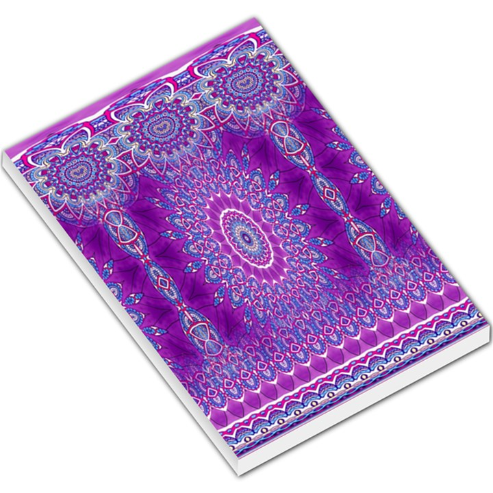 India Ornaments Mandala Pillar Blue Violet Large Memo Pads
