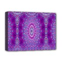 India Ornaments Mandala Pillar Blue Violet Deluxe Canvas 16  x 12   View1
