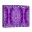 India Ornaments Mandala Pillar Blue Violet Deluxe Canvas 20  x 16   View1