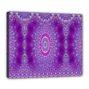 India Ornaments Mandala Pillar Blue Violet Deluxe Canvas 24  x 20   View1