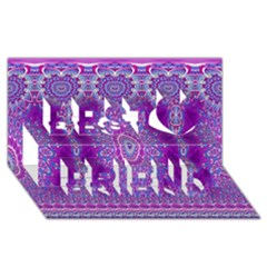 India Ornaments Mandala Pillar Blue Violet Best Friends 3D Greeting Card (8x4)