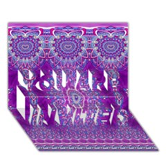 India Ornaments Mandala Pillar Blue Violet YOU ARE INVITED 3D Greeting Card (7x5)