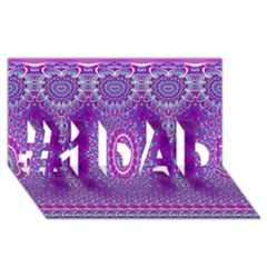 India Ornaments Mandala Pillar Blue Violet #1 DAD 3D Greeting Card (8x4)